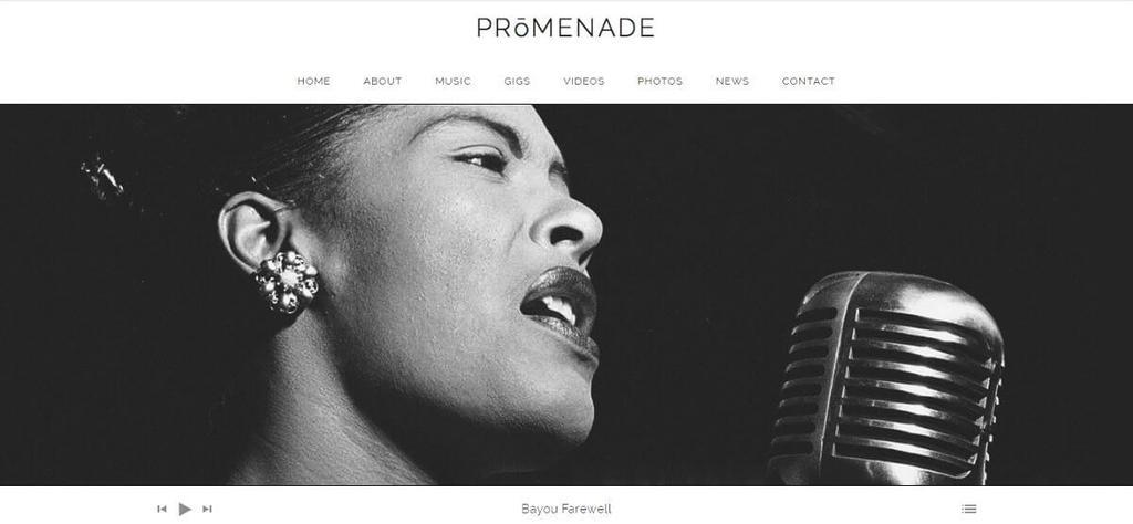 Tema para podcast Promenade