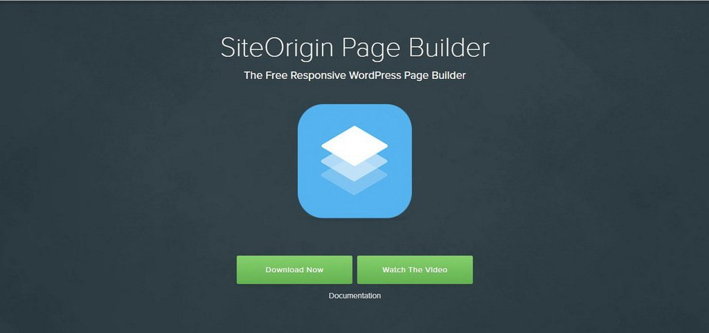 plugin Page Builder by SiteOrigin