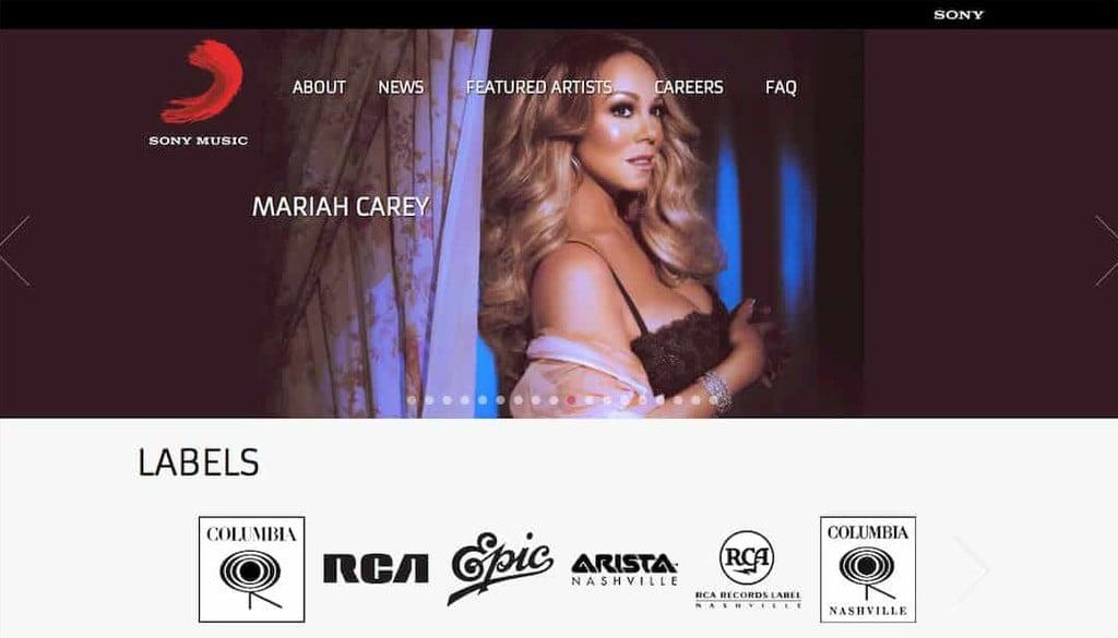 Site Oficial da Sony Music
