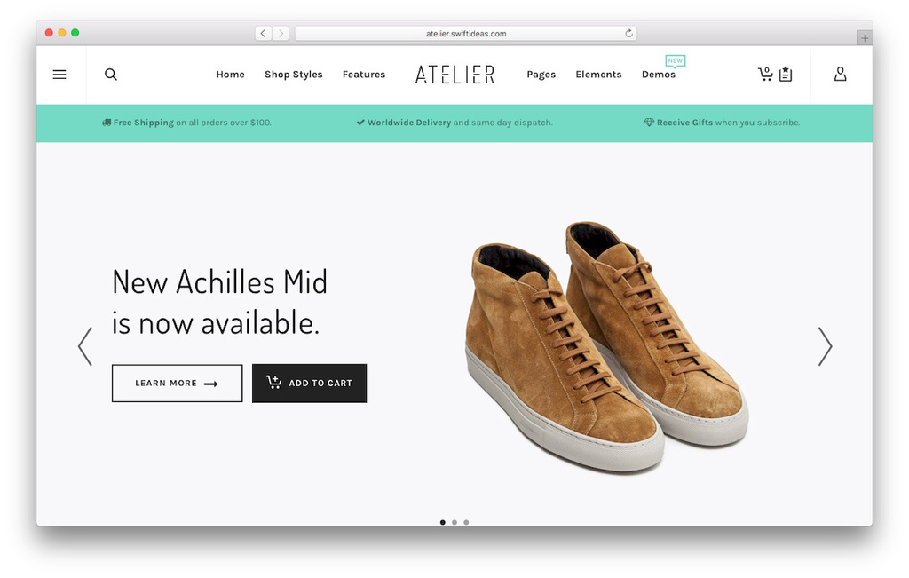 tema para loja virtual woocommerce Atelier