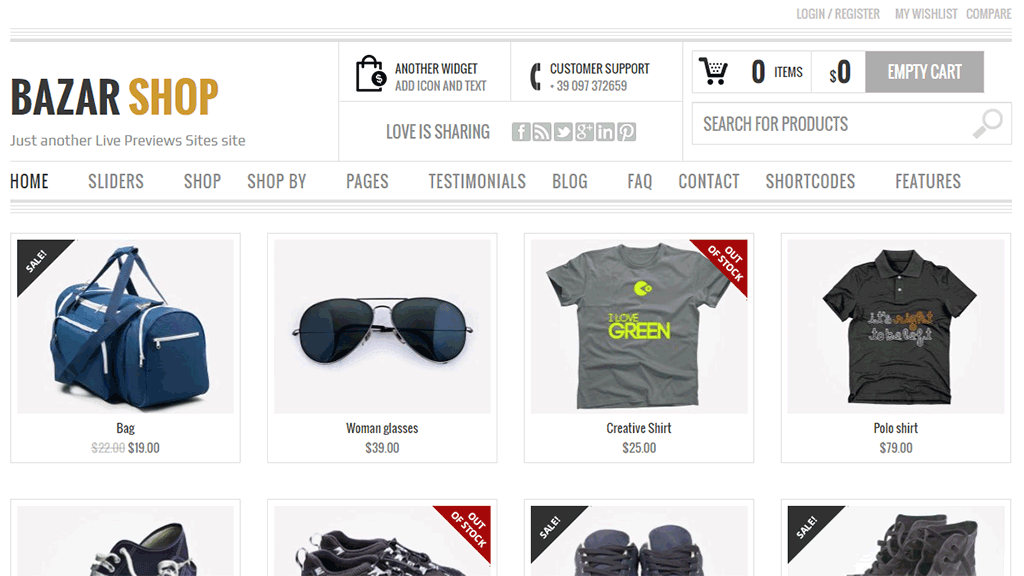 tema bazarshop do woocommerce