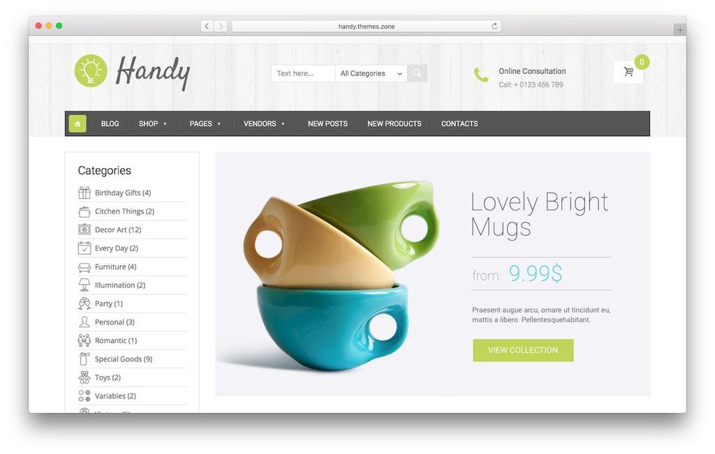 loja virtual wordpress Handy