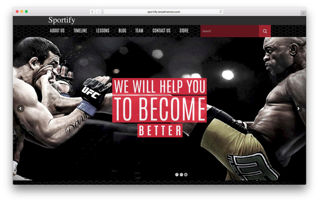 tema loja virtual Sportify