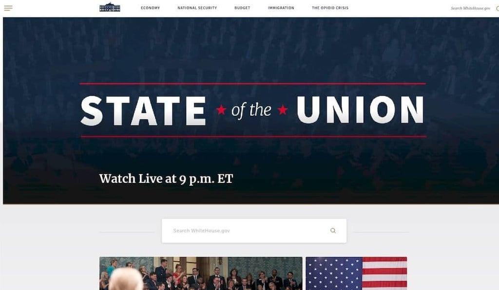 Site oficial da Casa Branca