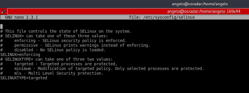 Desbilitar SELinux CentOS 7