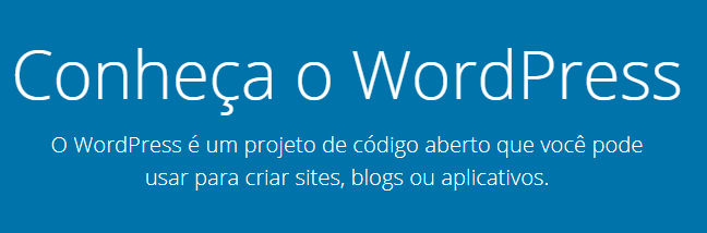 página inicial do wordpress.org do Brasil