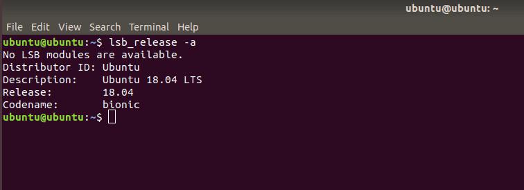 verificar a versão do ubuntu pelo terminal de comando