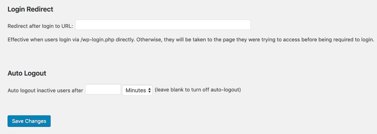 pagina de redirecionamento de login no plugin intranet all-in-one