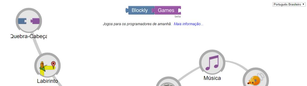 Blocky para ensinar crianças a programar