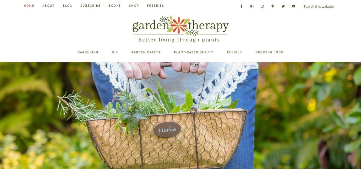 exemplo de blog de jardinagem