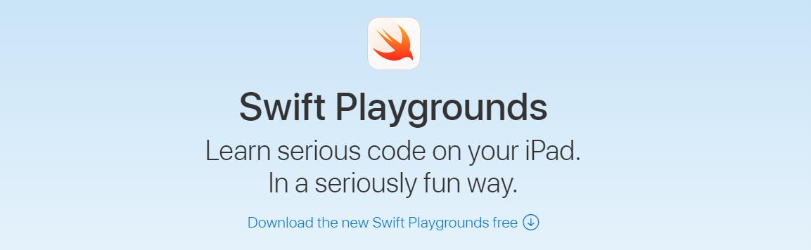 Swift playgrounds para ensinar linguagem de programação para crianças