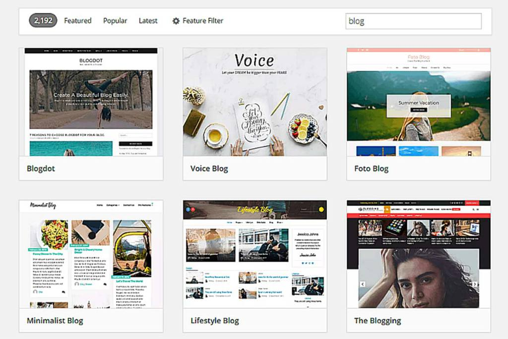 Seleção de temas do WordPress