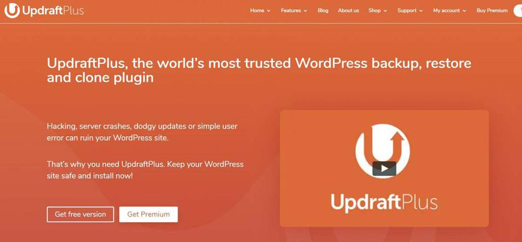 Website do plugin para WordPress Updraft Plus