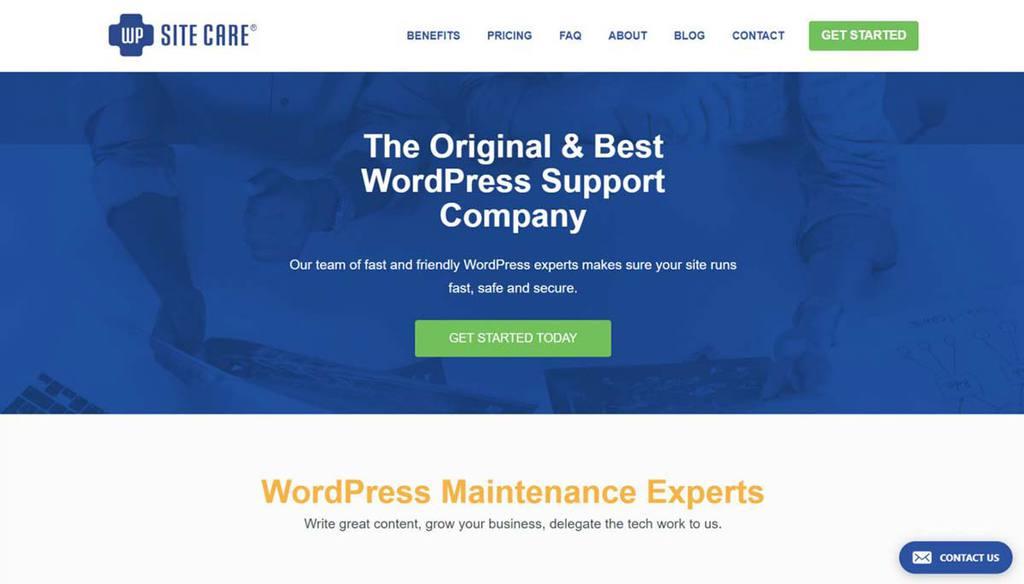 Serviço de ajuda para WordPress WP Site Care