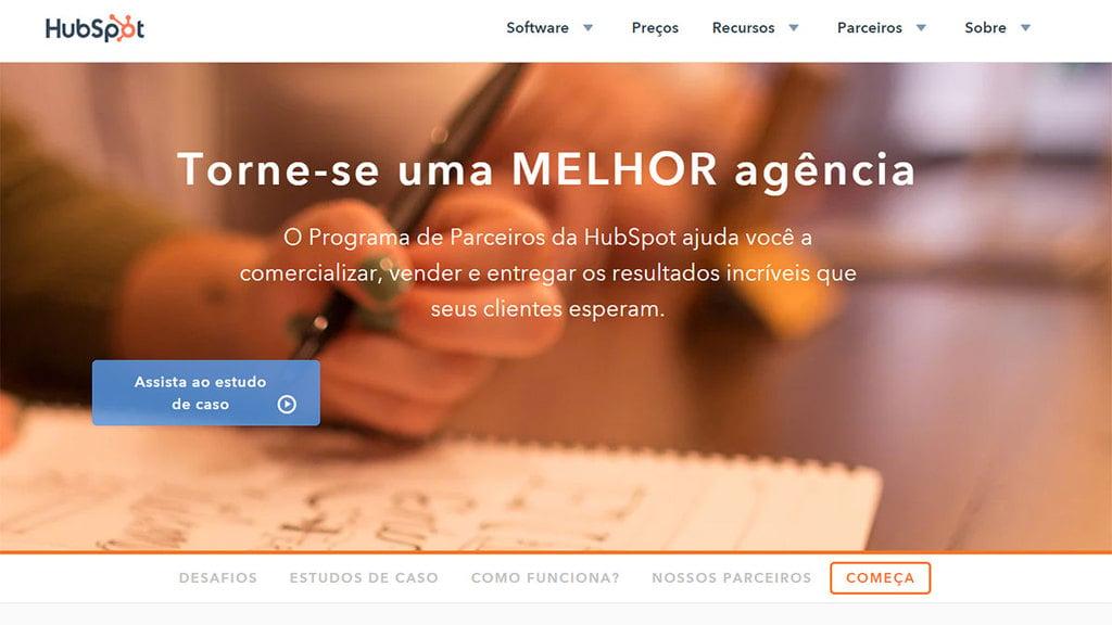 Página inicial do programa de Afiliados Hubspot Affiliate Program