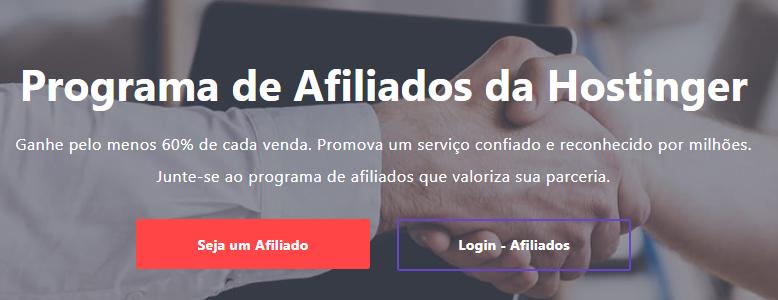 programa de afiliados da Hostinger para ganhar dinheiro online