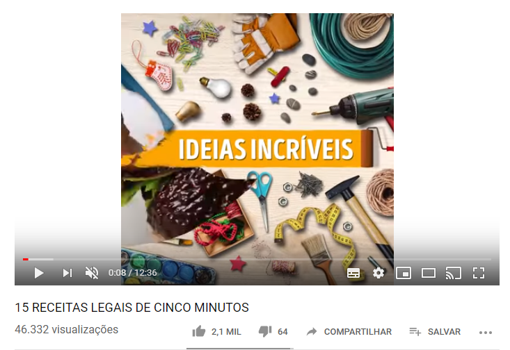 exemplos do youtube