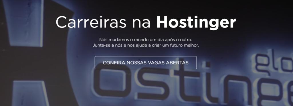 Vagas Home office na Hostinger - página de carreiras