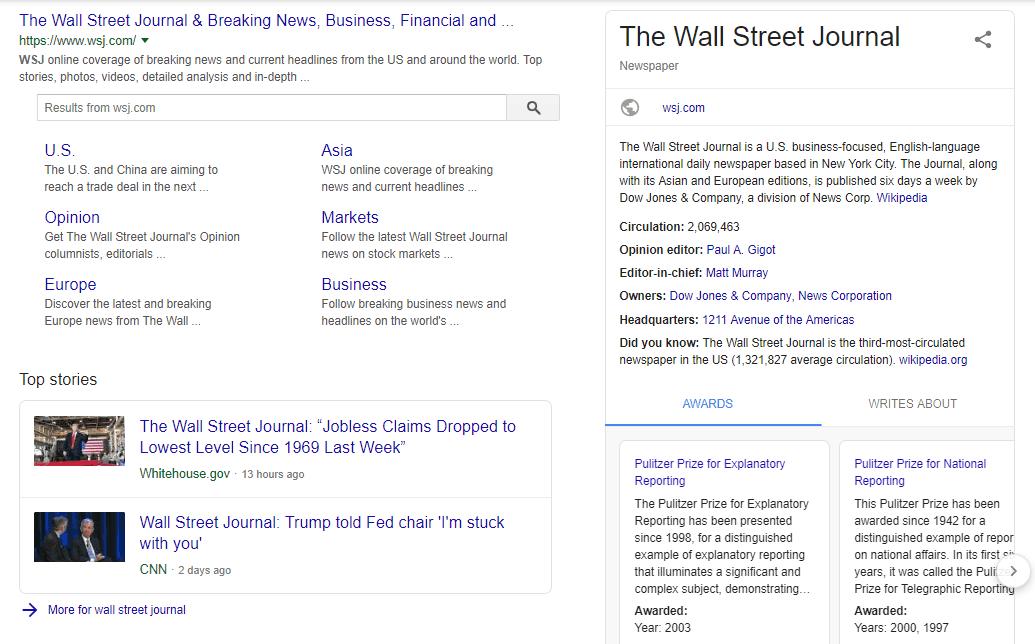 Exemplo de schema markup de artigos e notícias