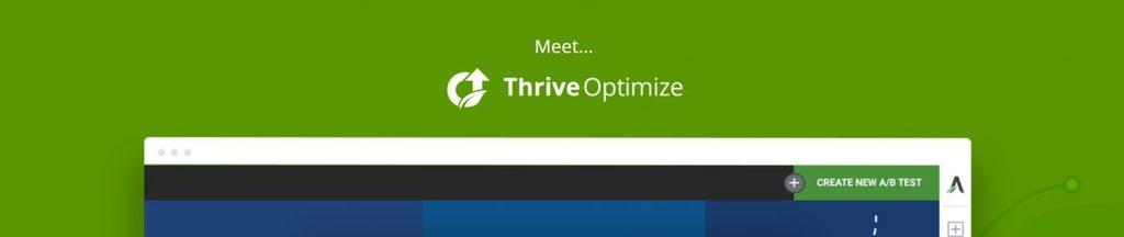 Parte da página inicial do serviço Thrive Optimize