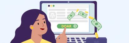 ilustração sobre conteúdo de plugin doação wordpress
