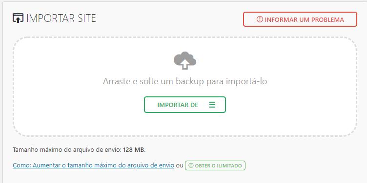 importar arquivos wp