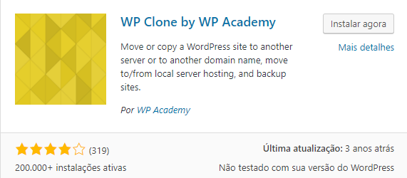 plugin wp clone by wp academy