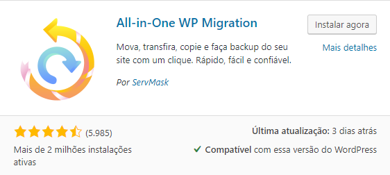 plugin all in on wp migration