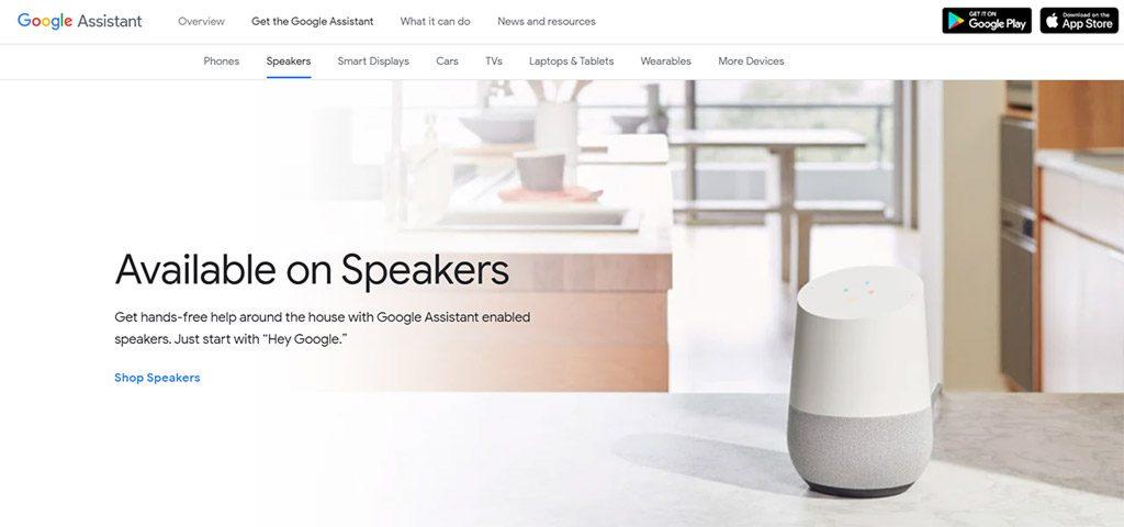 site oficial da google assistente