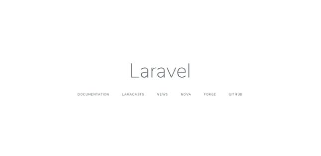 tela de confirmação de instalação do Laravel