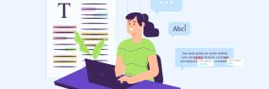 ilustração de capa para conteúdo sobre corretor ortográfico online
