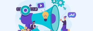 ilustração de capa para conteúdo sobre marketing online