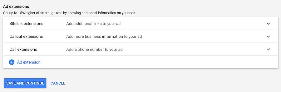 extensões para google adwords