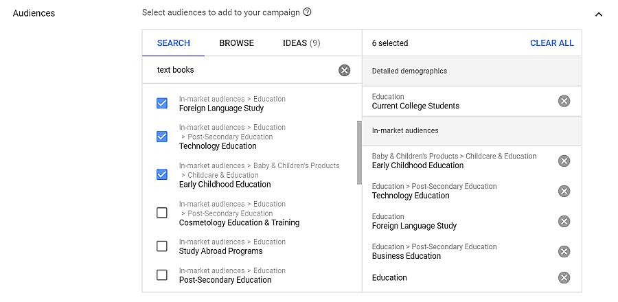 segmentação de audiência no google adwords