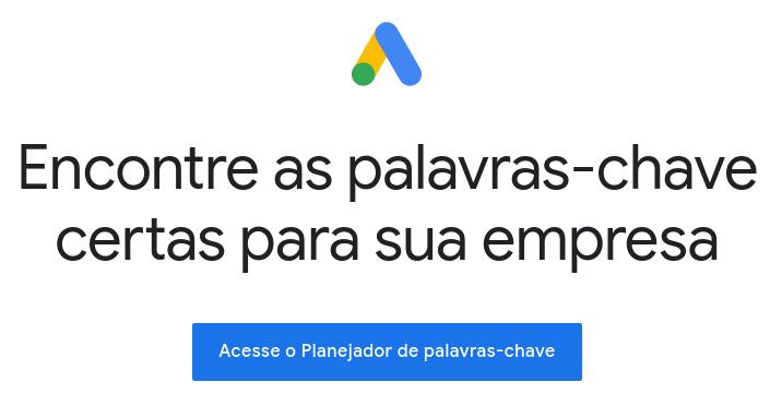 planejador de palavra-chave do Google