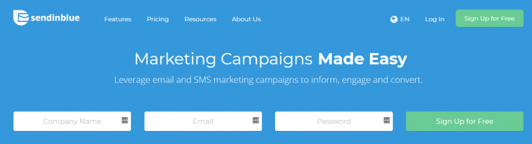 ferramenta de marketing SendInBlue