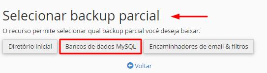 backup parcial de banco de dados mysql