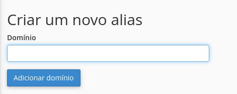 criar novo alias para estacionar domínio