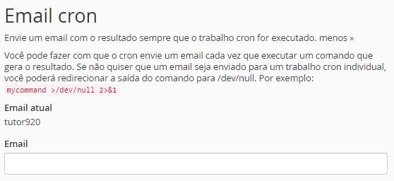 configuração de email cron