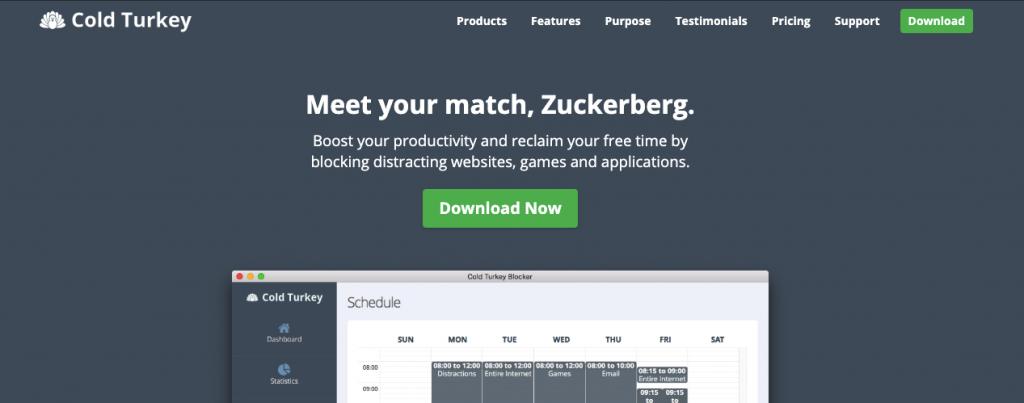 ferramenta Cold Turkey para bloquear sites impróprios e aumentar a produtividade