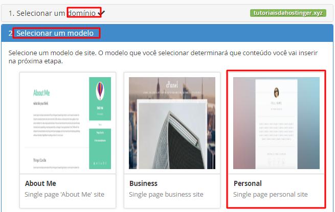 template para publicar site automático