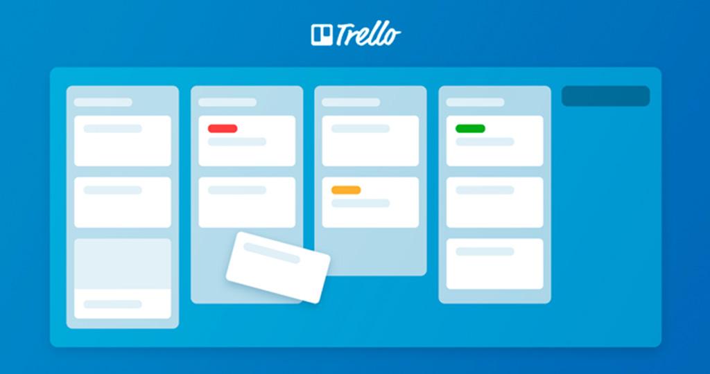 desenho da interface do software de gerenciamento de tempo Trello