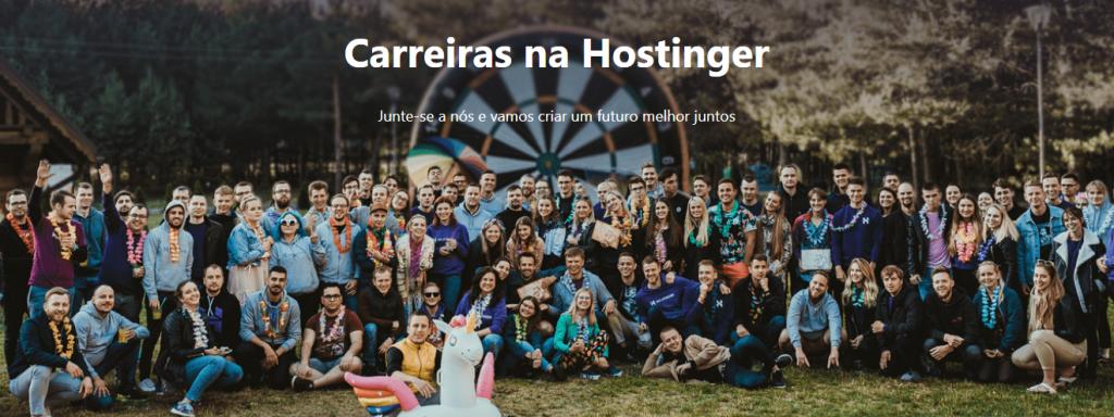 página de carreiras da Hostinger