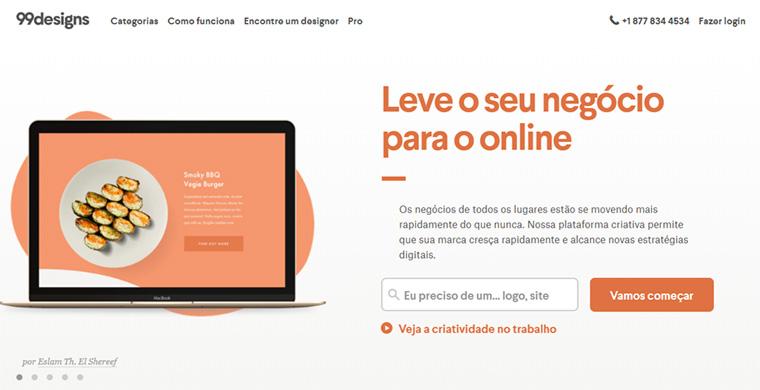 site de freelancer 99designs