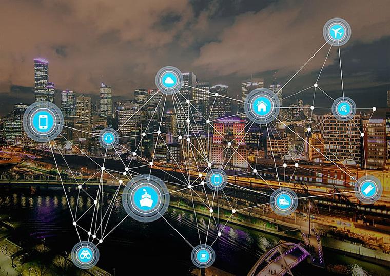 cidade conectada através de internet das coisas