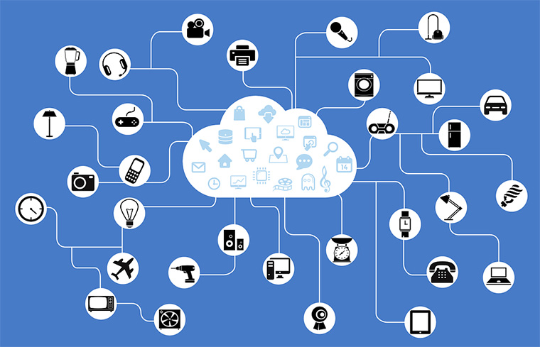 diversos dispositivos de internet of things interligados