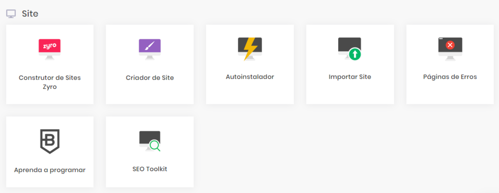 criador de sites no hpanel da Hostinger