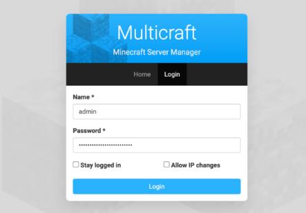 Gerenciador de Servidor Minecraft Multicraft da Hostinger