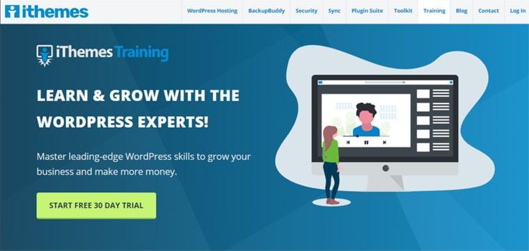 site para aprender wordpress ithemes