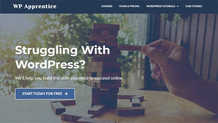 site de ensino de wordpress wp apprentice